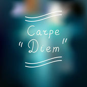 Typographic design. Carpe Diem — Vector de stock