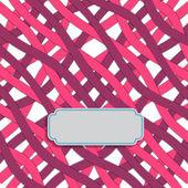 Randigt mönster med etikett för text. vektor — Stockvektor