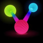Abstract Glow Connected Spheres — Vector de stock