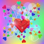 Abstract Valentine. Heart Gem. Vector — Stock Vector