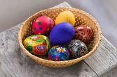 Homemade easter eggs — Stock Photo