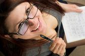 Attractive female student — Stock Photo
