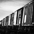 Old train wagons — Stock Photo