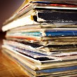 Stock Photo: Old records