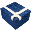 Foto Stock: Blue gift box