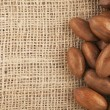 Stock Photo: Pecans and Burlap