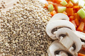 Mushroom Barley Soup Ingredients — Stock Photo