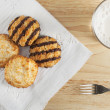 Coconut Macaroon Treat - Stock Photo