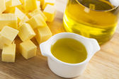 Butter or Olive Oil — Stock Photo