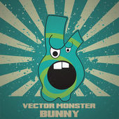 Vector monster cartoon style — Stock Vector