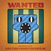 Vector monster cartoon style — Stock Vector
