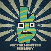 Cute vector cartoon monster. — Stock Vector