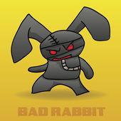 Vector Cartoon Rabbit Character — Stock Vector