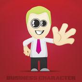 Vettore cartone animato di affari — Vettoriale Stock