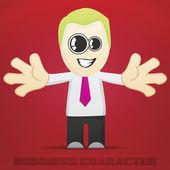 Vector Cartoon Business Character — Stock Vector