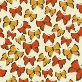 Modèle beau papillon. illustration vectorielle — Vecteur