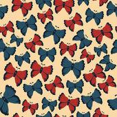 美丽的蝴蝶图案。矢量插画 — 图库矢量图片