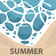 Vector illustration of Summer tropical banner — Stock Photo