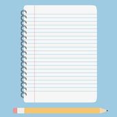 Vector blank lined notebook — ストックベクタ