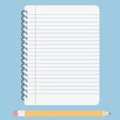 Vektor leeres liniertes notizbuch — Stockvektor