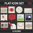 Flat icon set — Stock Vector