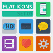 Flat Icons Set 03 — Stock Vector