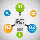 Minimal infographics. Vector Illustration — Vector de stock