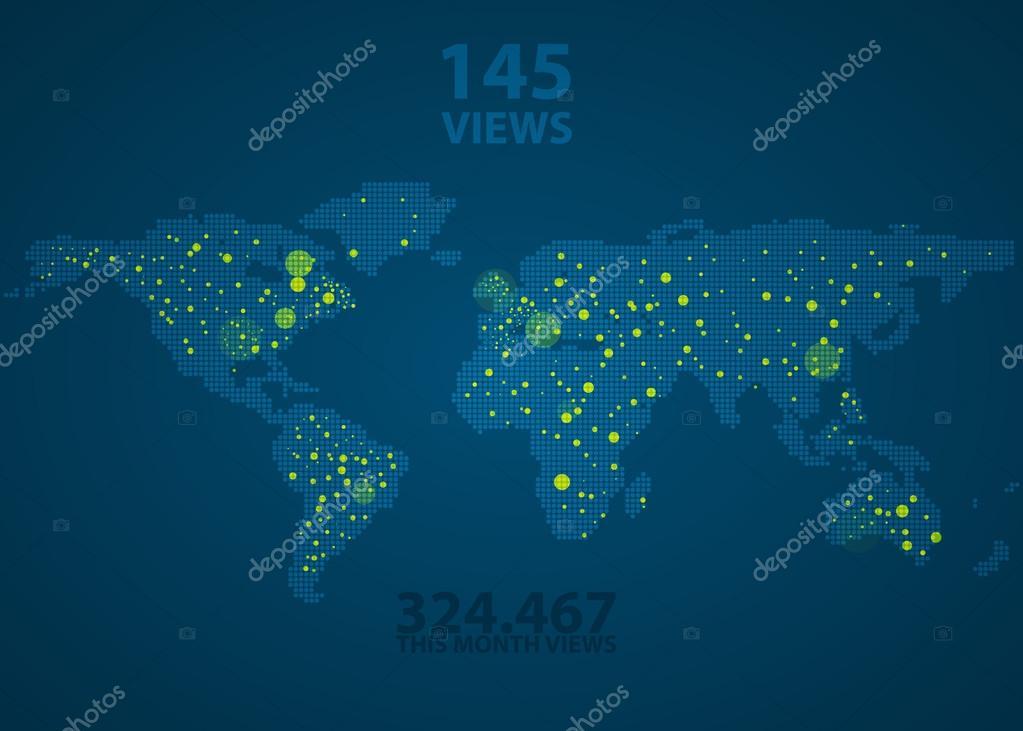 全球公司地图素材