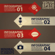 Minimal infographics. Vector Illustration vintage — Stock Vector