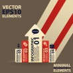 Minimal infographics. Vector Illustration vintage — Stock Vector #31819059