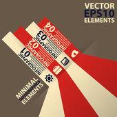 Minimal infographics. Vector Illustration vintage — Stock Vector