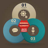 Minimal infographics. Vector Illustration vintage — Vector de stock