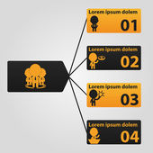 Minimal infographics. Vector Illustration — Stock Vector