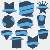 Vector Stickers and Badges. Flat Style — Stock Vector