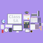Flat school pack — Stock Vector