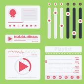 Flat music UI. Vector elements — Stock Vector