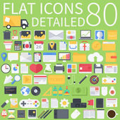 Flat icons pack — Stock Vector