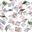 Rain of european banknotes — Stock Photo #18111647