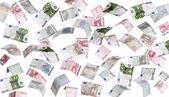 Regen der Europäischen Banknoten — Stockfoto