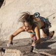 Female climber gripping rock. — Stock Photo #20212865