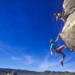 Climbers hanging over the void. — Stock Photo