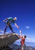 Team of climbers. — Stock Photo