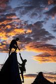 Successful climbing team. — Stock Photo