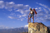 Climber on the edge. — Stock Photo