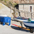 Boats in Valldemossa port — Stock Photo