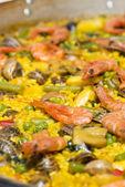Vaření paella — Stock fotografie
