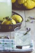Gin lemonade with thyme — Stock Photo