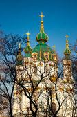 Bela igreja na ucrânia, em um dia ensolarado — Foto Stock