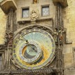 Stock Photo: Clock on town hall of old Prague