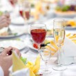 Holiday table. - Stock Photo